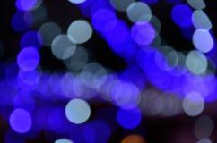 niebieski bokeh abstrakcyjne Obraz Royalty Free