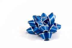 niebieski bow prezent Obrazy Royalty Free