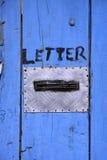 niebieski bright drzwi Fotografia Royalty Free