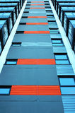 niebieski budynek nowoczesnego Obraz Royalty Free