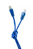 niebieski cable komputer Zdjęcia Royalty Free
