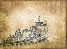 niebieski chiński smok ilustracji wektora Obrazy Royalty Free