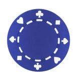 niebieski chip do pokera. Zdjęcia Stock