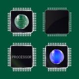 niebieski chip komputerowy odcień ilustracja wektor