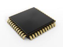 niebieski chip komputerowy odcień Obraz Royalty Free