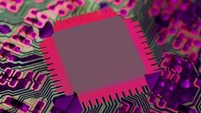 niebieski chip komputerowy odcie? zdjęcie wideo