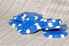 niebieski chip zapasów Zdjęcia Stock