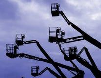 niebieski crane Zdjęcia Royalty Free