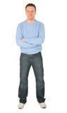 niebieski człowiek sweter Obraz Royalty Free