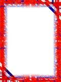 niebieski czerwony graniczny white Obrazy Royalty Free