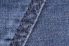 niebieski denham Bawełniana tkanina, cajgi Kreatywnie rocznika t?o Kieszeń i suwaczek Linia jest niskiej jakości Tania rzecz obrazy royalty free