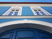niebieski dom Obraz Stock