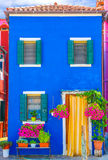 niebieski dom Obrazy Stock