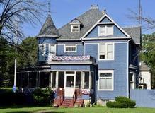 niebieski dom Obrazy Royalty Free