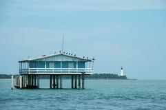 niebieski dom stiltsville Zdjęcia Stock