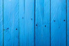 niebieski drewna Fotografia Royalty Free