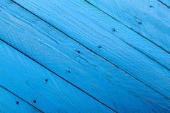 niebieski drewna Fotografia Stock