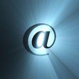 niebieski flary aureolę światła znak ilustracja wektor