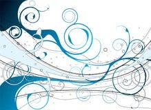 niebieski florish royalty ilustracja