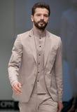 niebieski fotografa mody flash pokaz odcień Mężczyzna wizerunek i styl Obraz Royalty Free