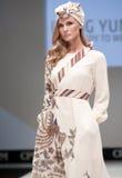 niebieski fotografa mody flash pokaz odcień Kobieta wizerunek i styl Obrazy Royalty Free