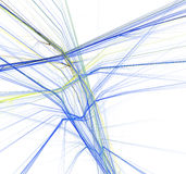 niebieski fractal żółty Zdjęcia Royalty Free