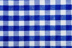 niebieski gingham tła Obrazy Royalty Free