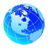 niebieski globe świat Obrazy Royalty Free