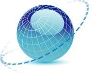 niebieski globus 3 d ilustracji
