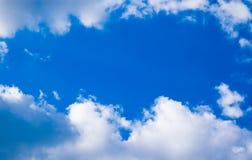niebieski granicy chmury niebo Zdjęcie Stock