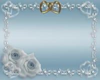 niebieski graniczny walentynki ślub Obraz Royalty Free