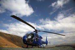 niebieski helikopter Zdjęcia Royalty Free