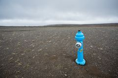 niebieski hydrant obraz stock