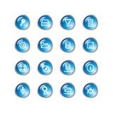 niebieski ikon serwer transmisyjnego Obraz Stock