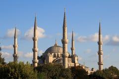 niebieski Istanbul indyk meczetu Zdjęcia Royalty Free
