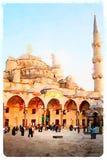 niebieski Istanbul meczetu Zdjęcie Royalty Free