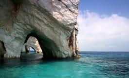 niebieski jaskiń Fotografia Royalty Free