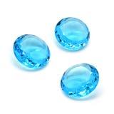 niebieski katalogu formy gemstones owalny vhq topazowy termin visualisation Zdjęcie Stock