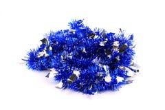 niebieski kiście girlandy srebra Zdjęcie Royalty Free