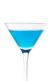 niebieski koktajlu szkła obrazy stock