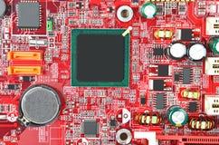 niebieski kolor się komputerowa płyta główna Zdjęcie Stock