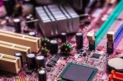 niebieski kolor się komputerowa płyta główna Zdjęcia Stock