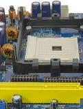 niebieski kolor się komputerowa płyta główna Zdjęcia Royalty Free