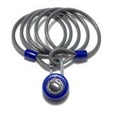 niebieski kombinacji zamka cable Zdjęcie Stock