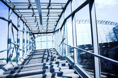 niebieski korytarza metalu Obraz Stock