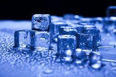 niebieski kostek lodu tło Obrazy Royalty Free