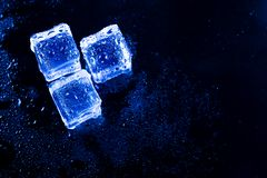 niebieski kostki lodu Obraz Stock