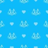 niebieski kot royalty ilustracja