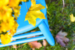 niebieski krzesło Obraz Royalty Free