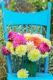 niebieski krzesło Fotografia Royalty Free